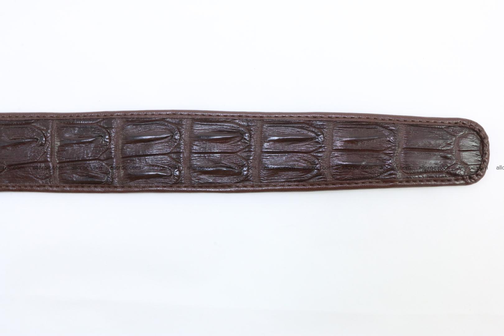 Genuine crocodile leather hornback belt 074 Foto 6