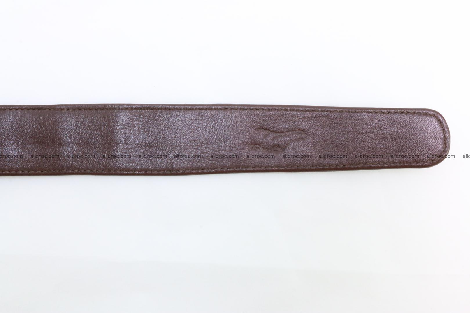 Genuine crocodile leather hornback belt 080 Foto 7