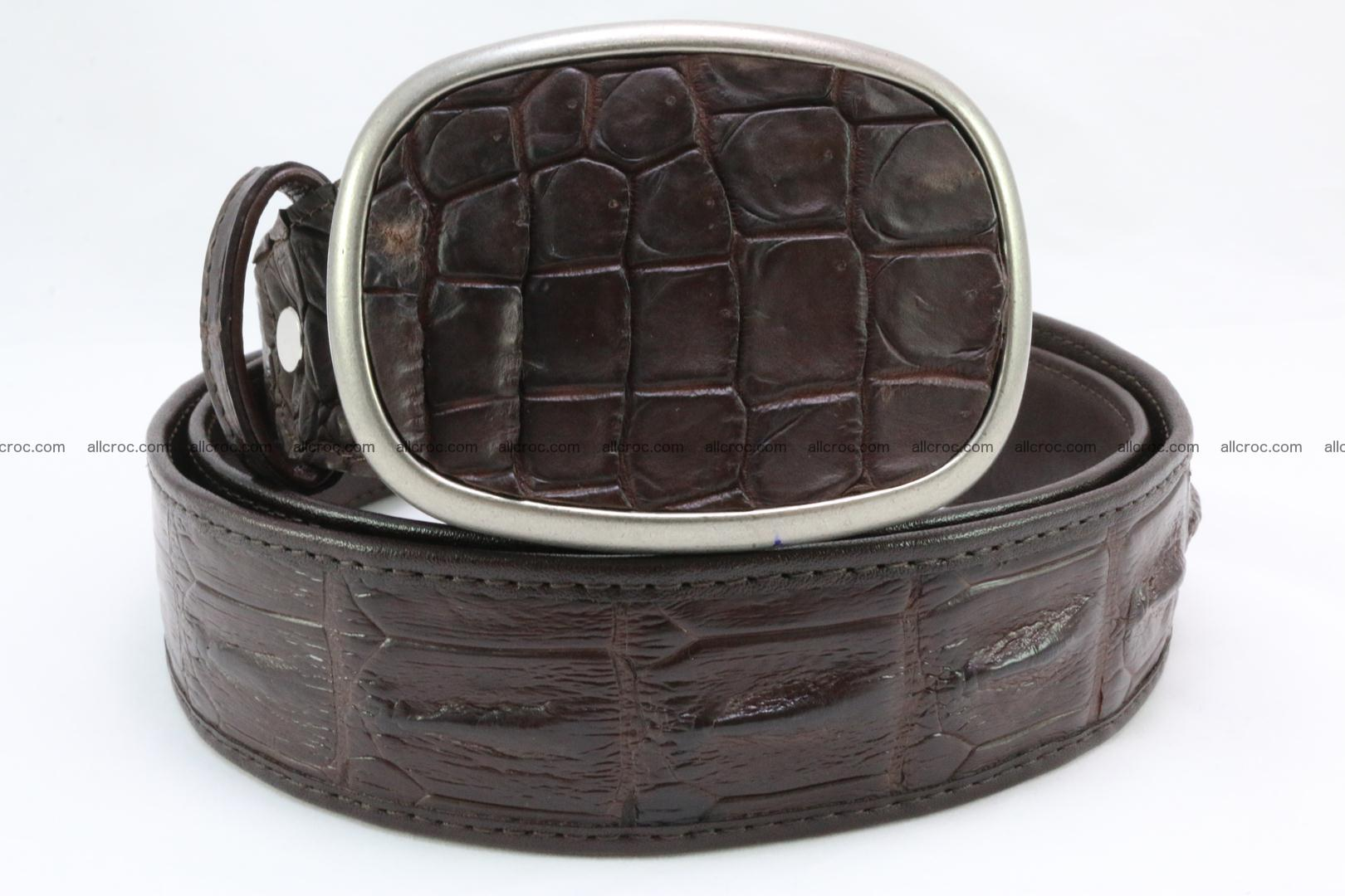 Genuine crocodile leather hornback belt 097 Foto 1