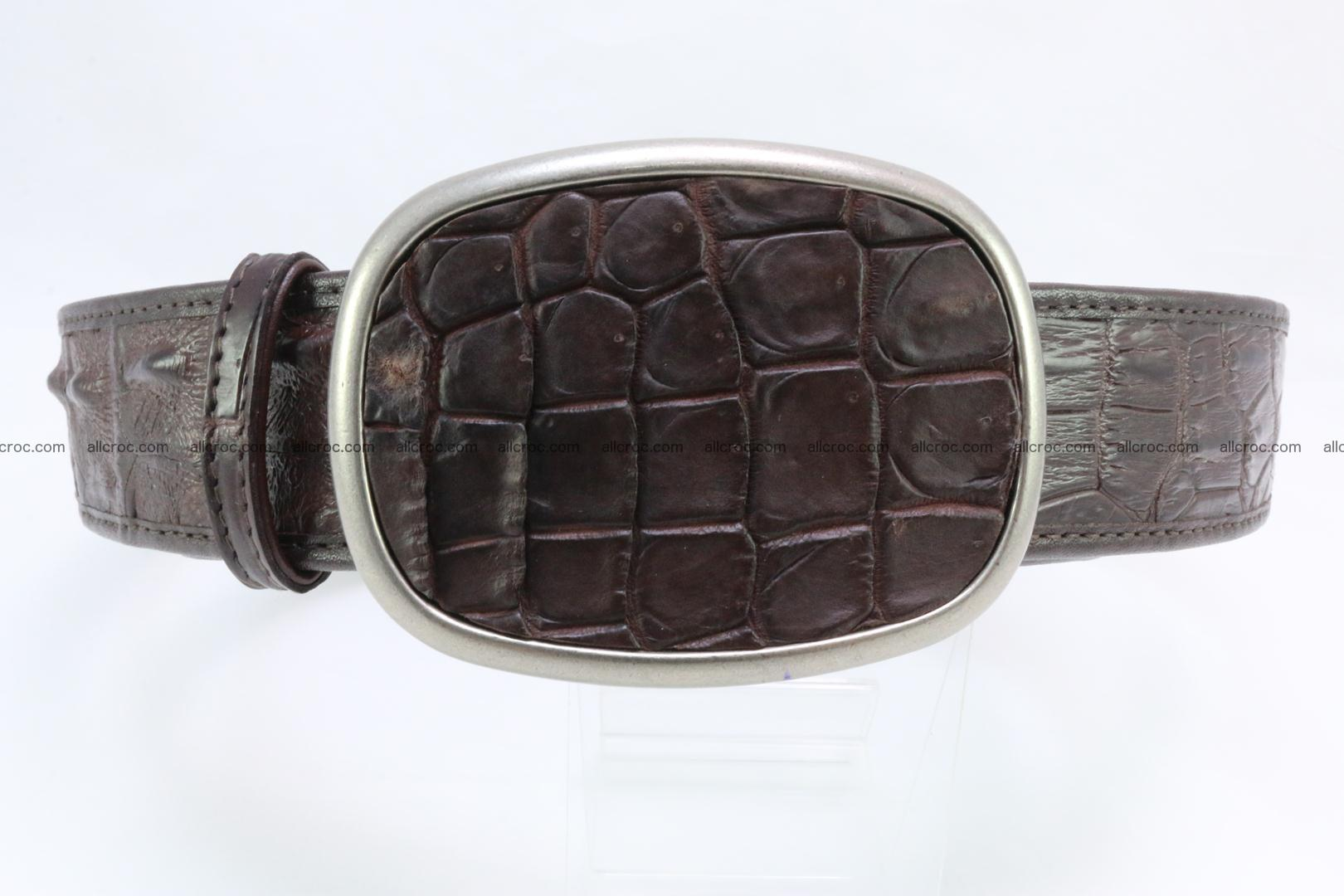 Genuine crocodile leather hornback belt 097 Foto 0