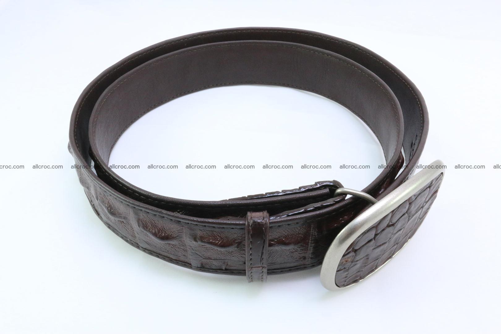 Genuine crocodile leather hornback belt 097 Foto 2