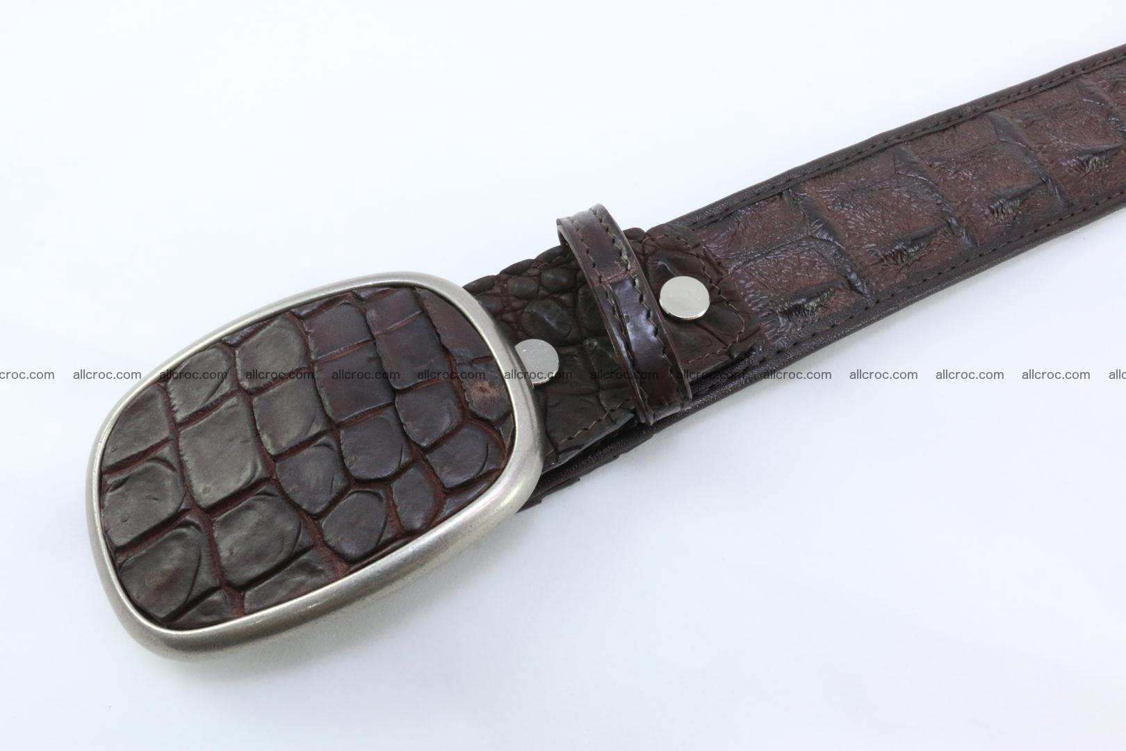 Genuine crocodile leather hornback belt 097 Foto 3