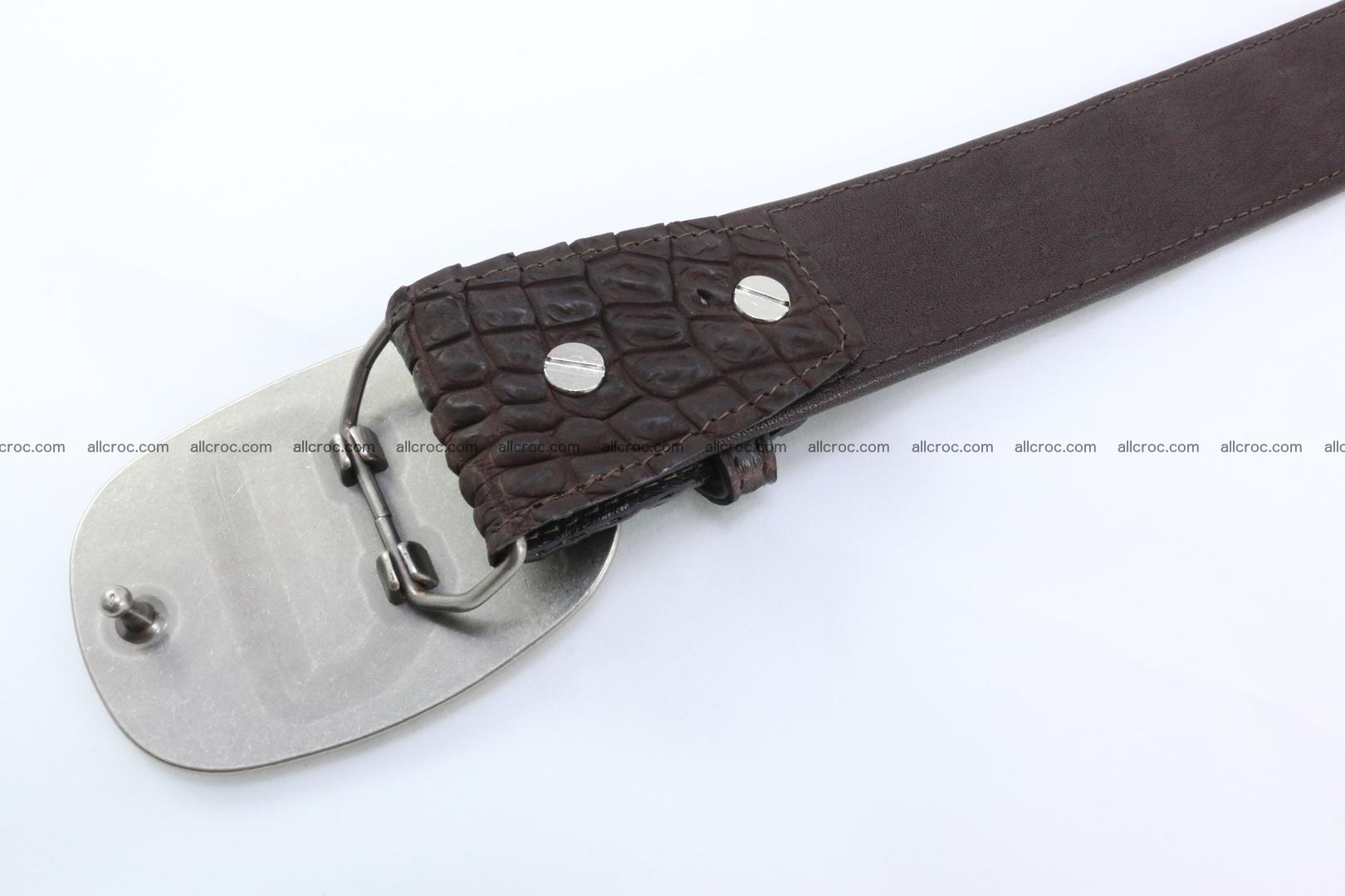 Genuine crocodile leather hornback belt 097 Foto 4