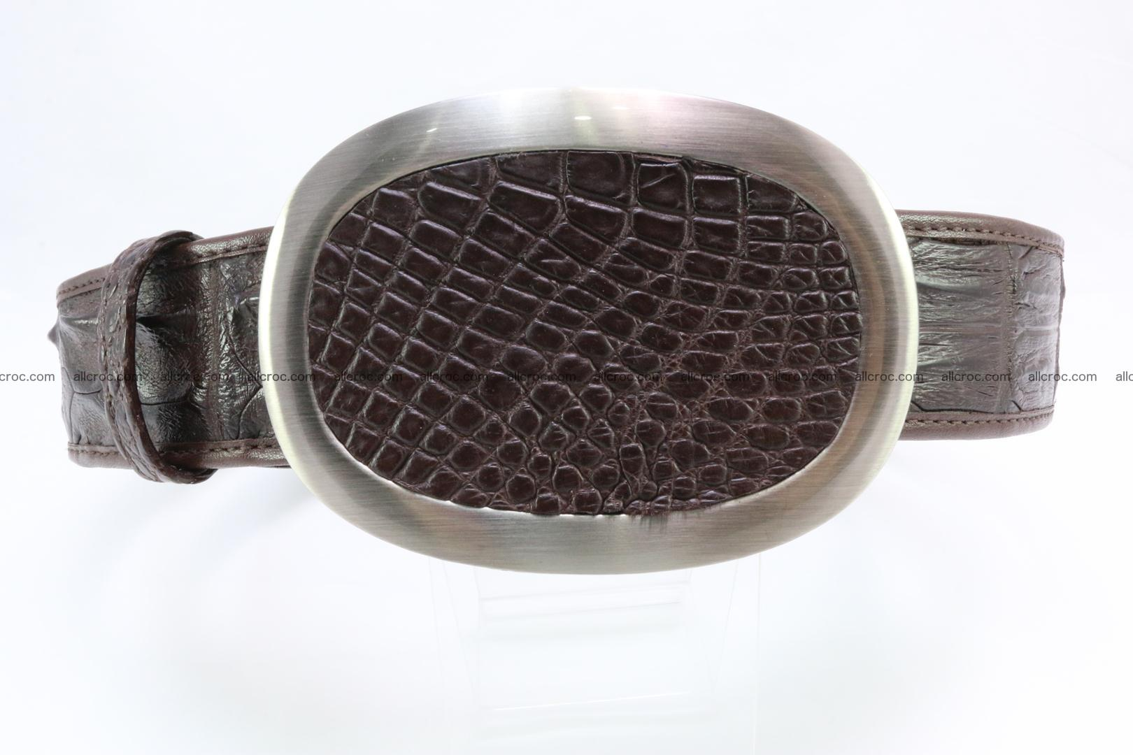 Genuine crocodile leather hornback belt 094 Foto 0