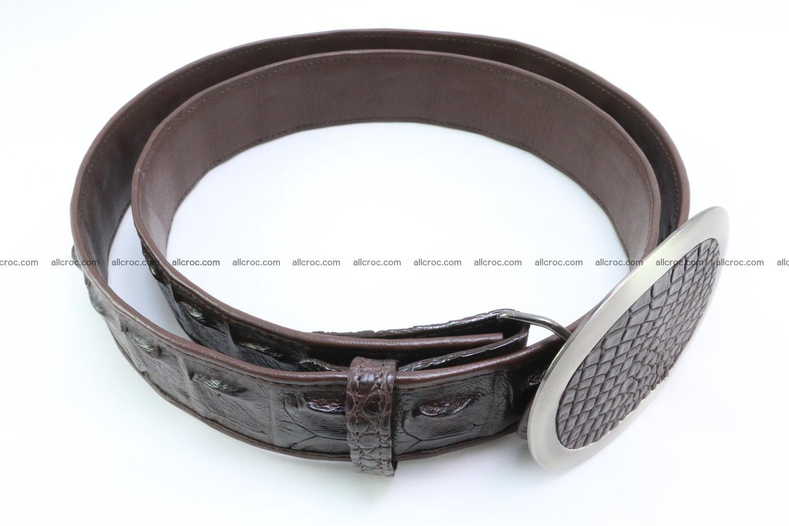 Genuine crocodile leather hornback belt 094 Foto 2