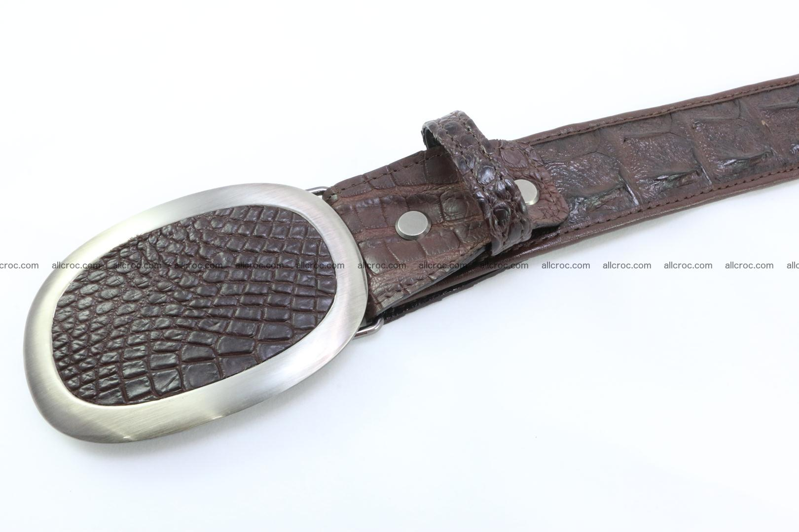 Genuine crocodile leather hornback belt 094 Foto 3