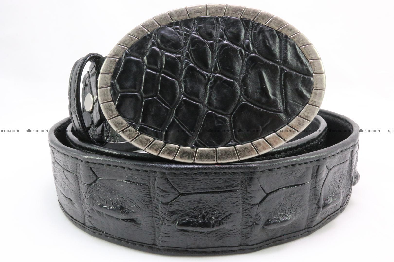 Genuine crocodile leather hornback belt 096 Foto 1