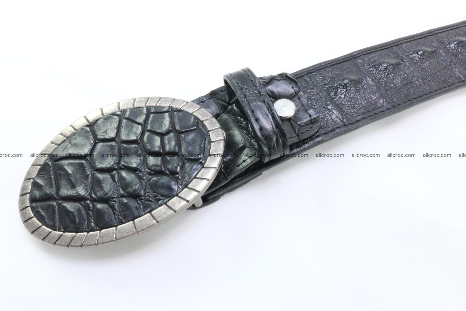 Genuine crocodile leather hornback belt 096 Foto 4