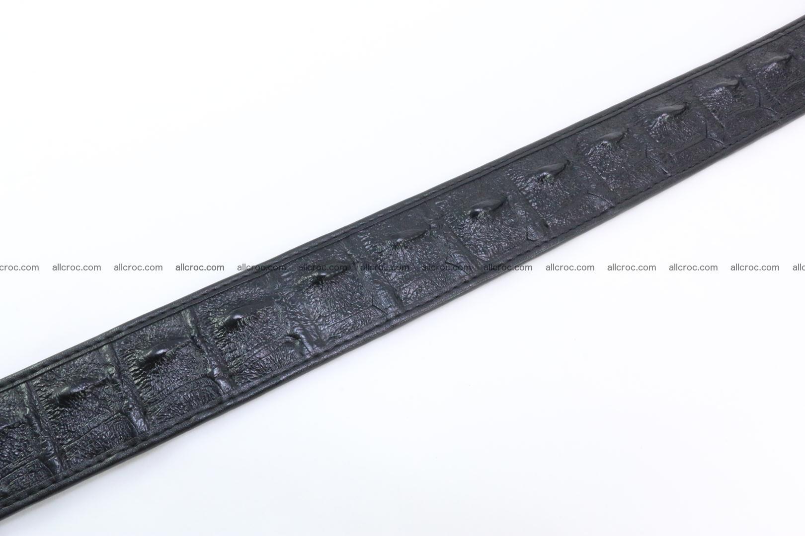 Genuine crocodile leather hornback belt 077 Foto 5