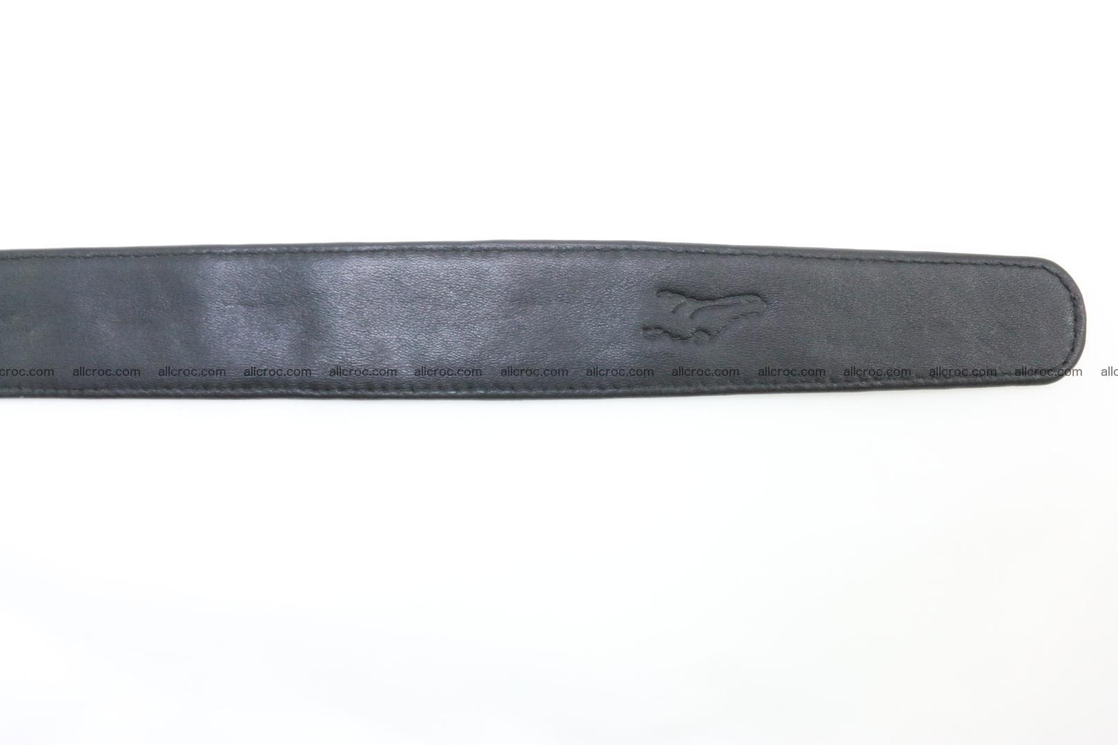 Genuine crocodile leather hornback belt 073 Foto 7