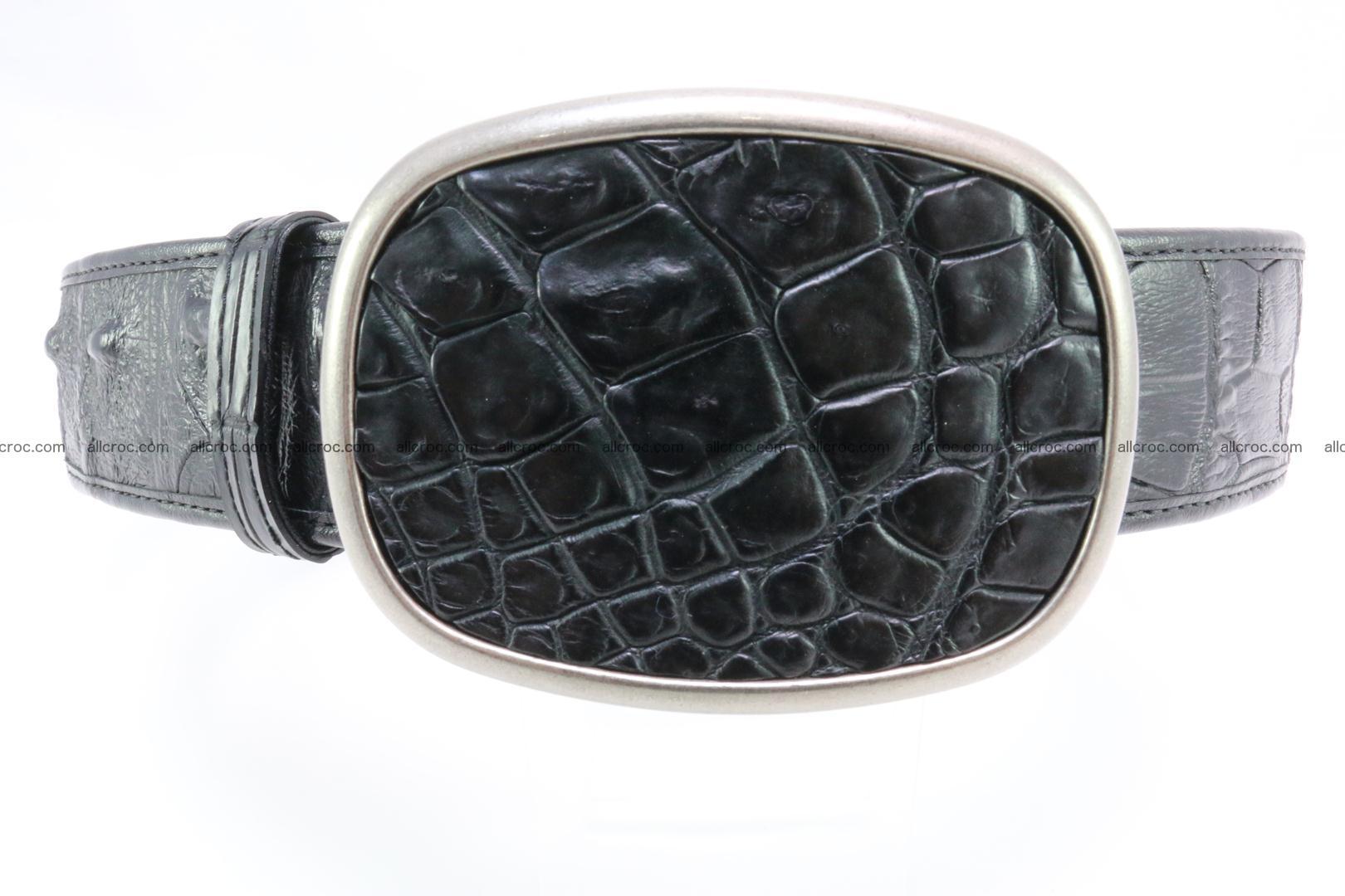 Genuine crocodile leather hornback belt 098 Foto 0