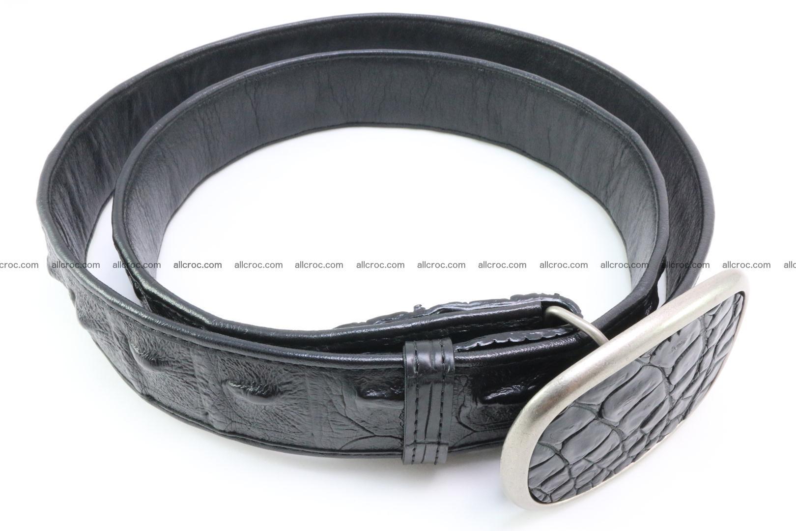 Genuine crocodile leather hornback belt 098 Foto 2