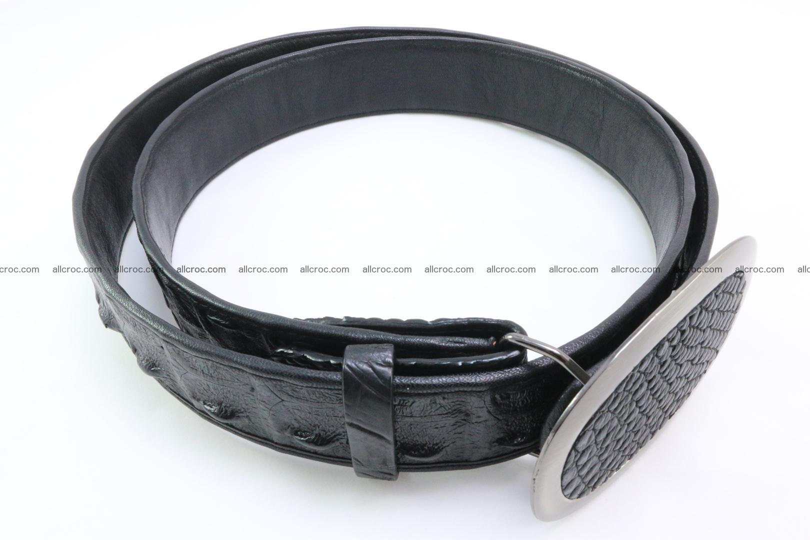 Genuine crocodile leather hornback belt 093 Foto 1