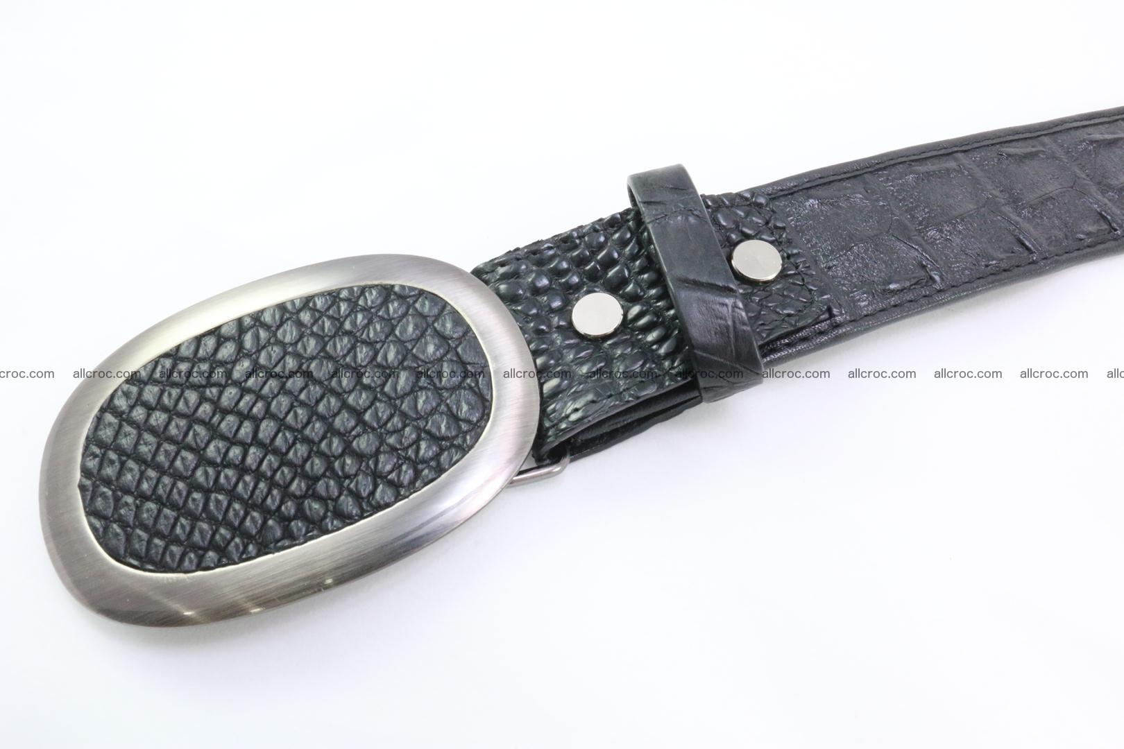 Genuine crocodile leather hornback belt 093 Foto 3