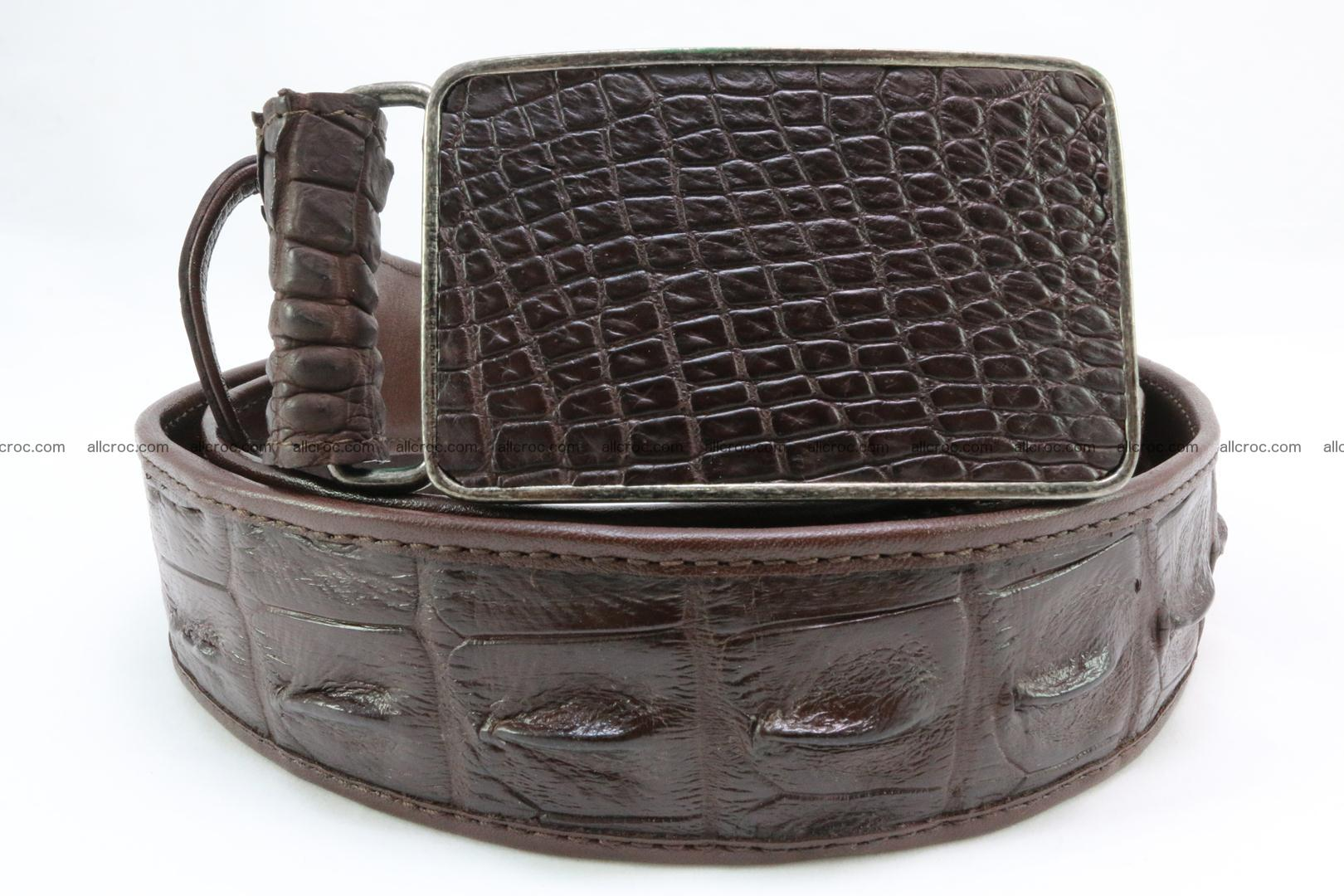 Genuine crocodile leather hornback belt 092 Foto 1