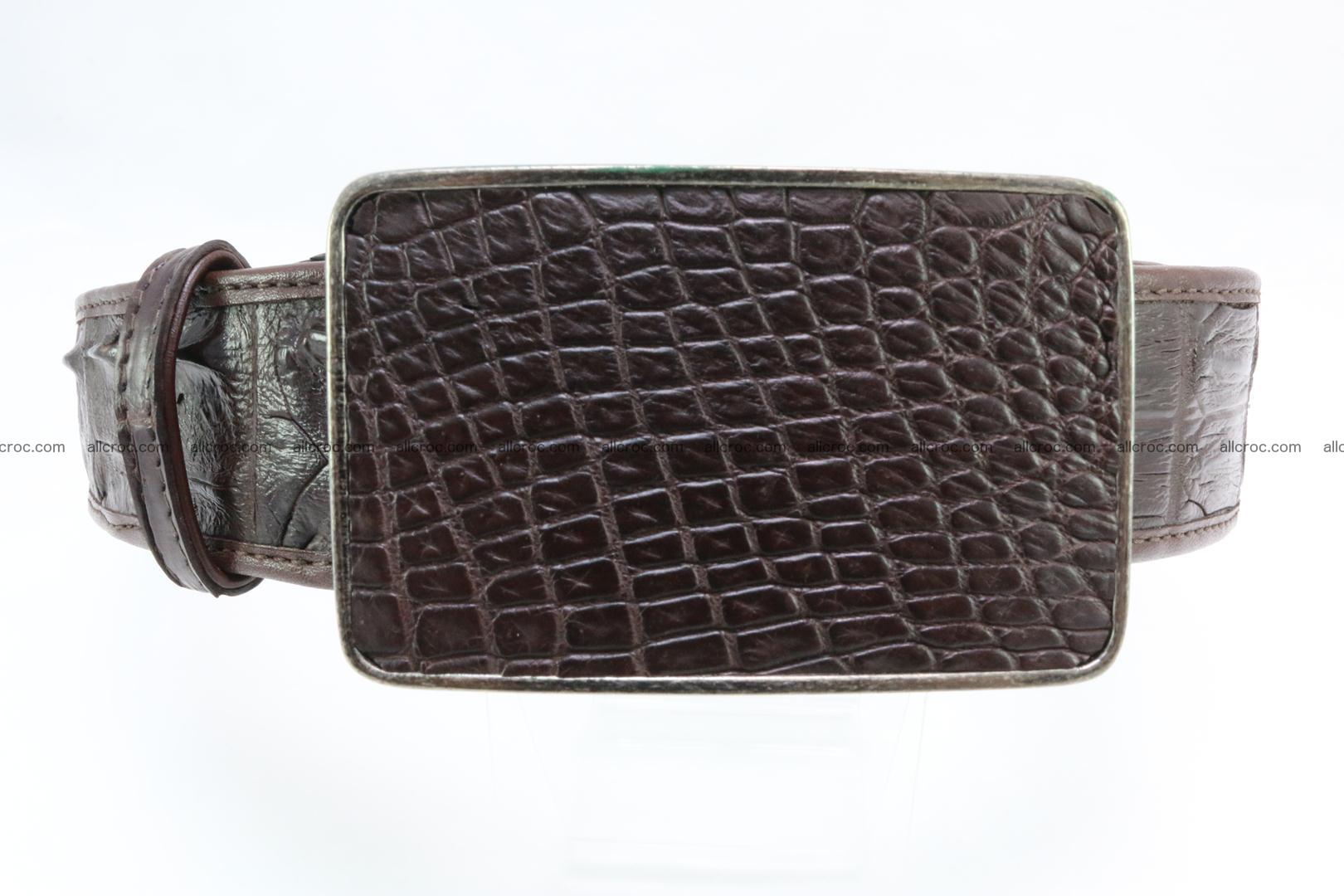 Genuine crocodile leather hornback belt 092 Foto 0