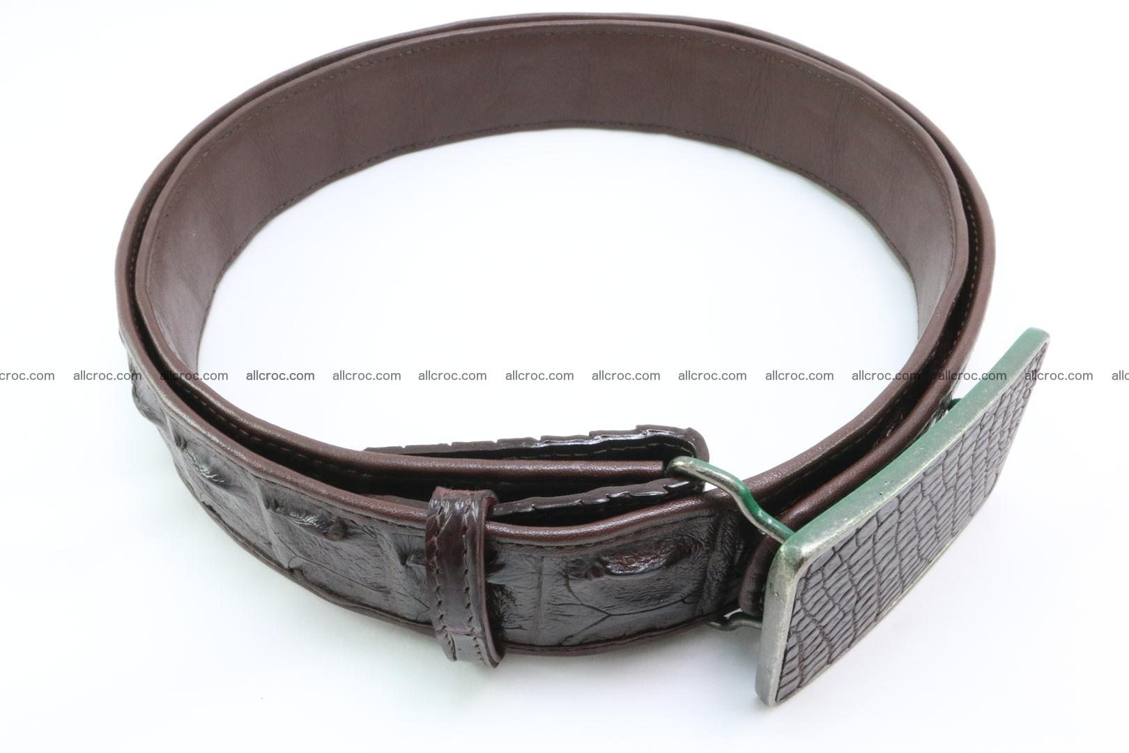 Genuine crocodile leather hornback belt 092 Foto 2