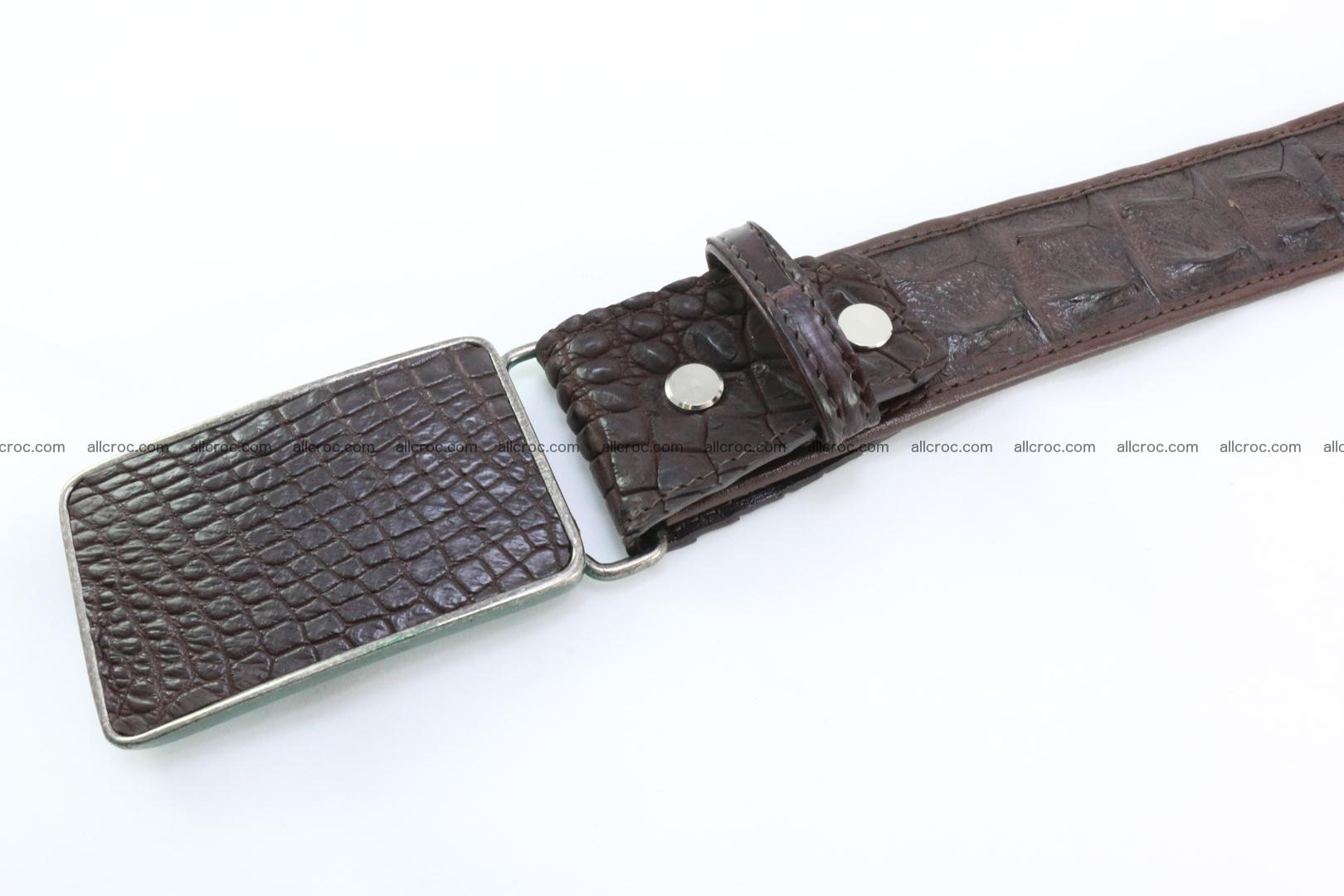 Genuine crocodile leather hornback belt 092 Foto 3