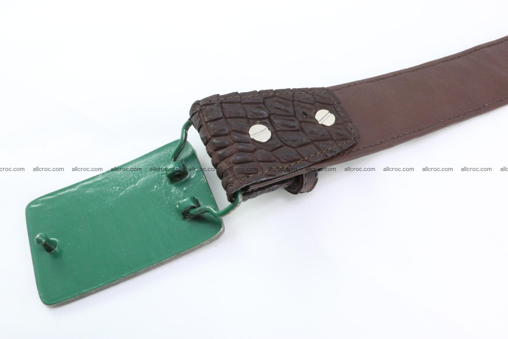 Genuine crocodile leather hornback belt 092 Foto 4