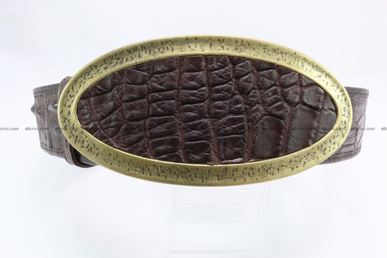 Genuine crocodile leather hornback belt 090 Foto 0