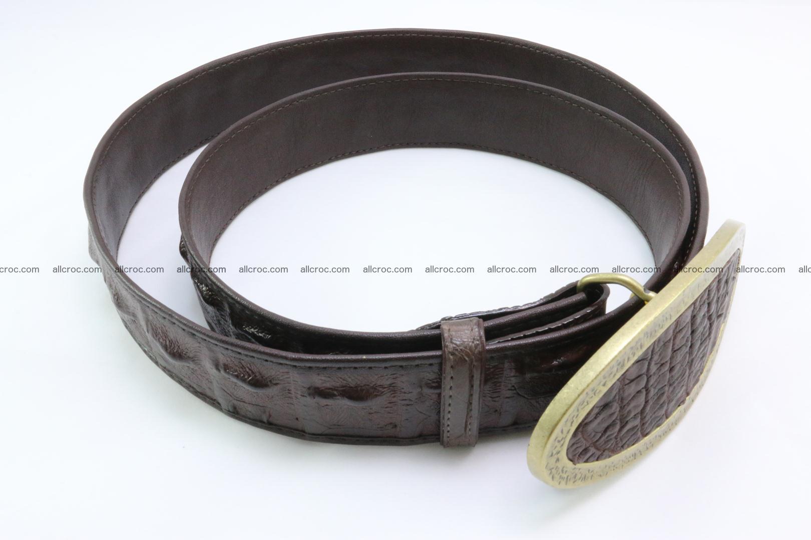 Genuine crocodile leather hornback belt 090 Foto 4