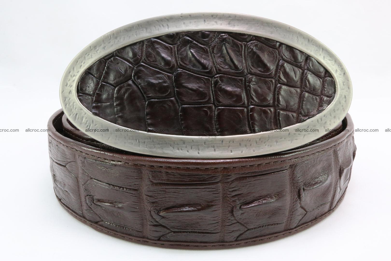 Genuine crocodile leather hornback belt 089 Foto 4