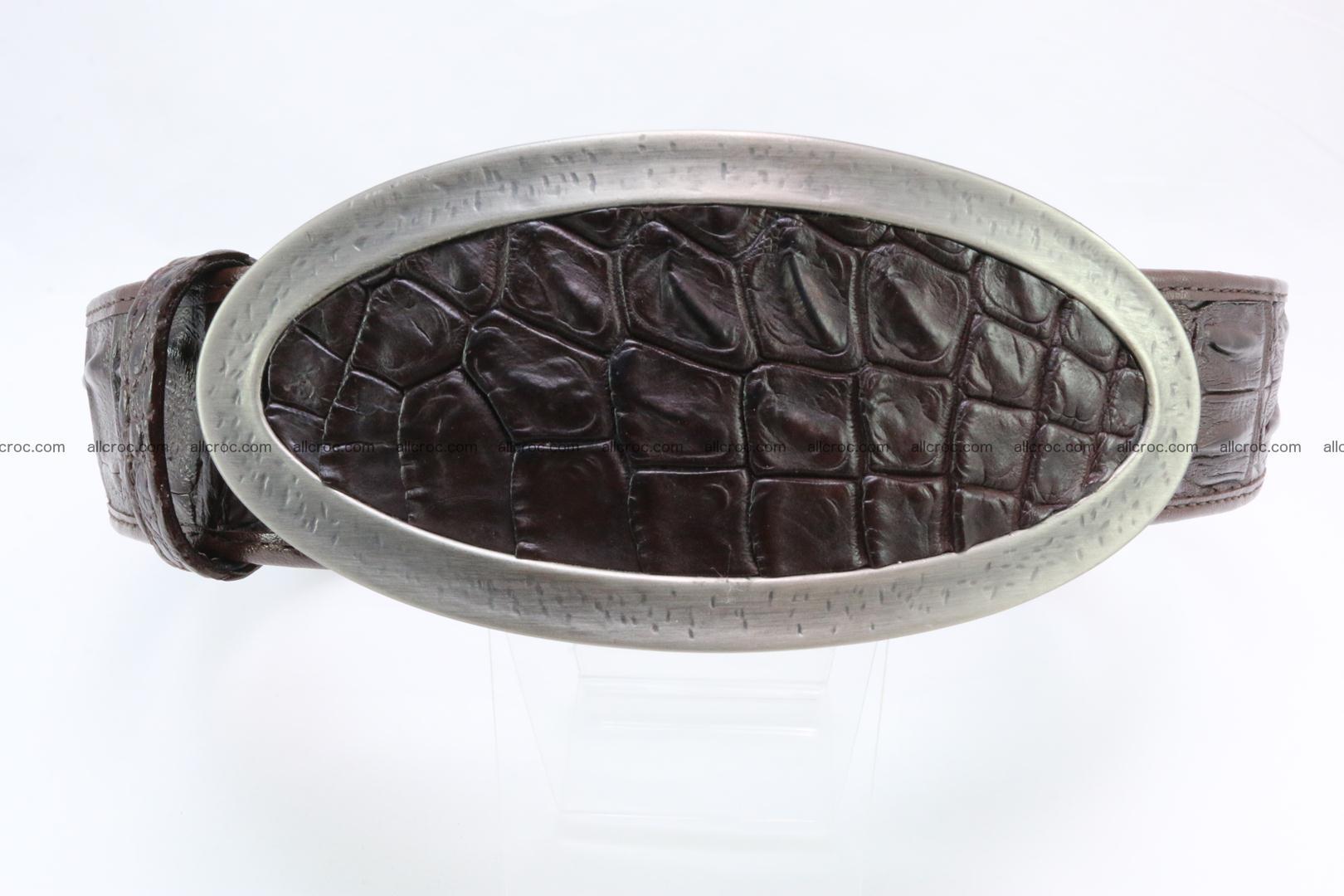 Genuine crocodile leather hornback belt 089 Foto 0