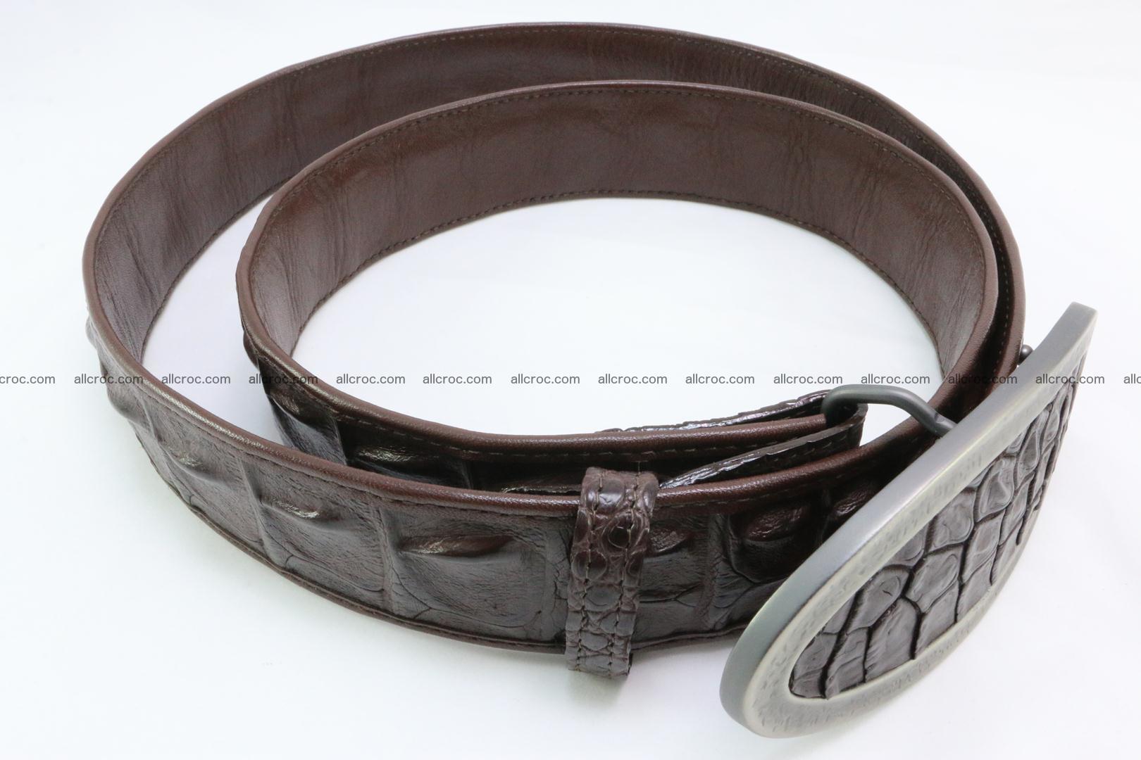 Genuine crocodile leather hornback belt 089 Foto 2
