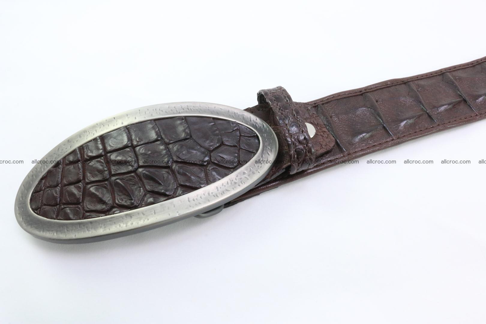 Genuine crocodile leather hornback belt 089 Foto 1