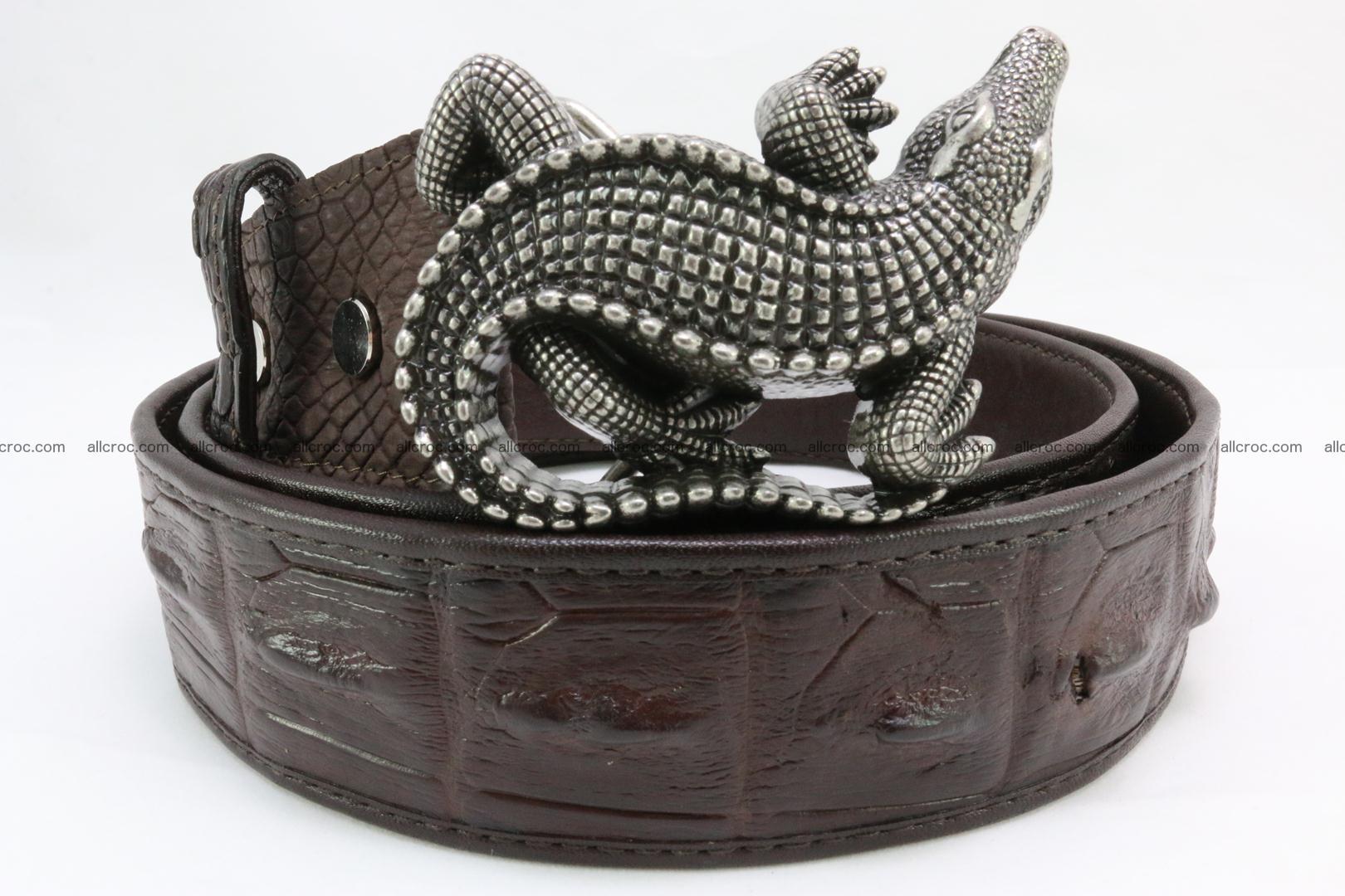 Genuine crocodile leather hornback belt 080 Foto 1