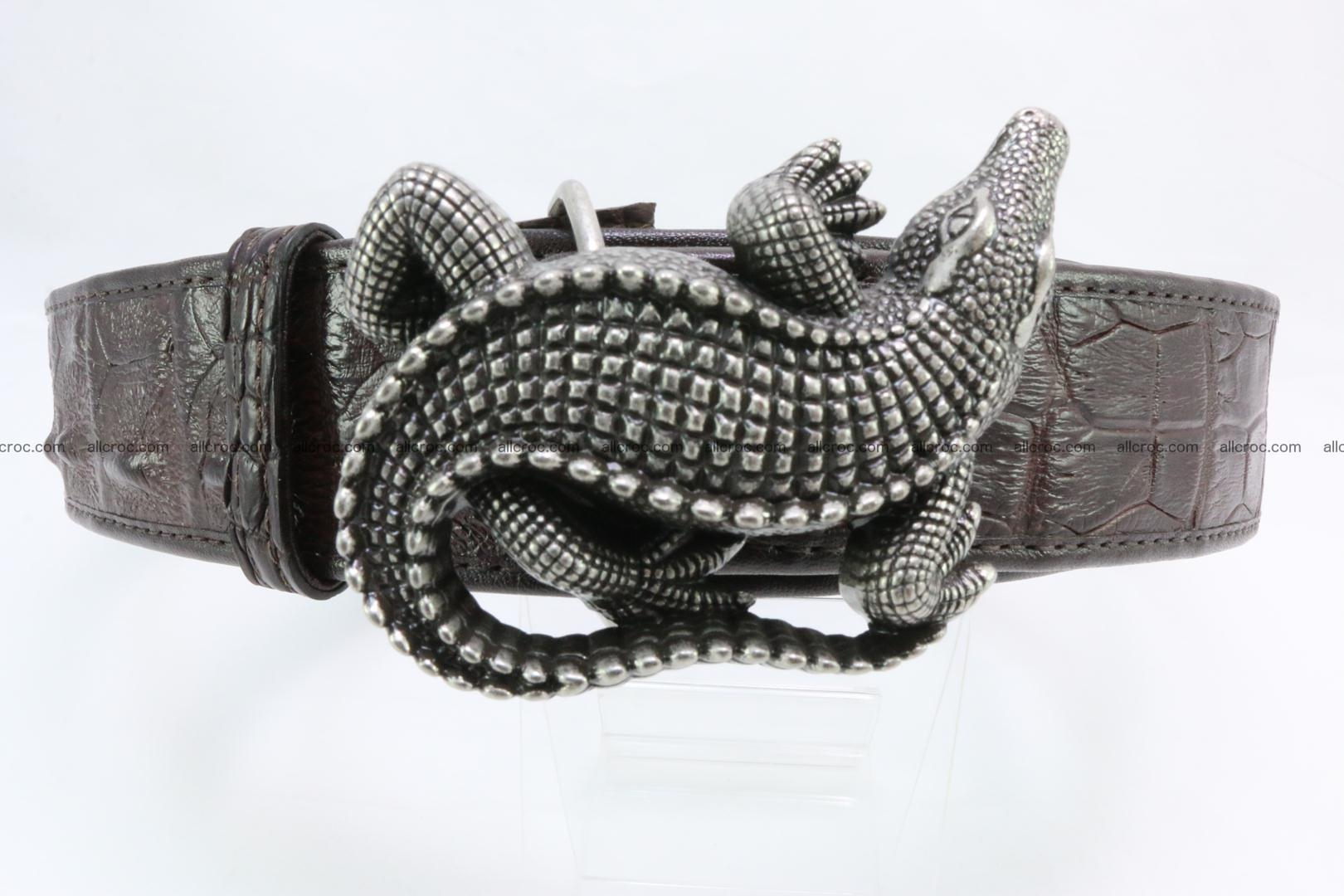 Genuine crocodile leather hornback belt 080 Foto 0