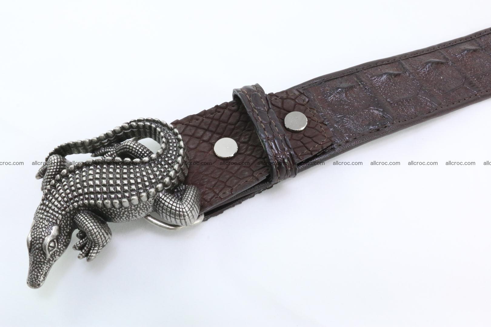 Genuine crocodile leather hornback belt 080 Foto 4
