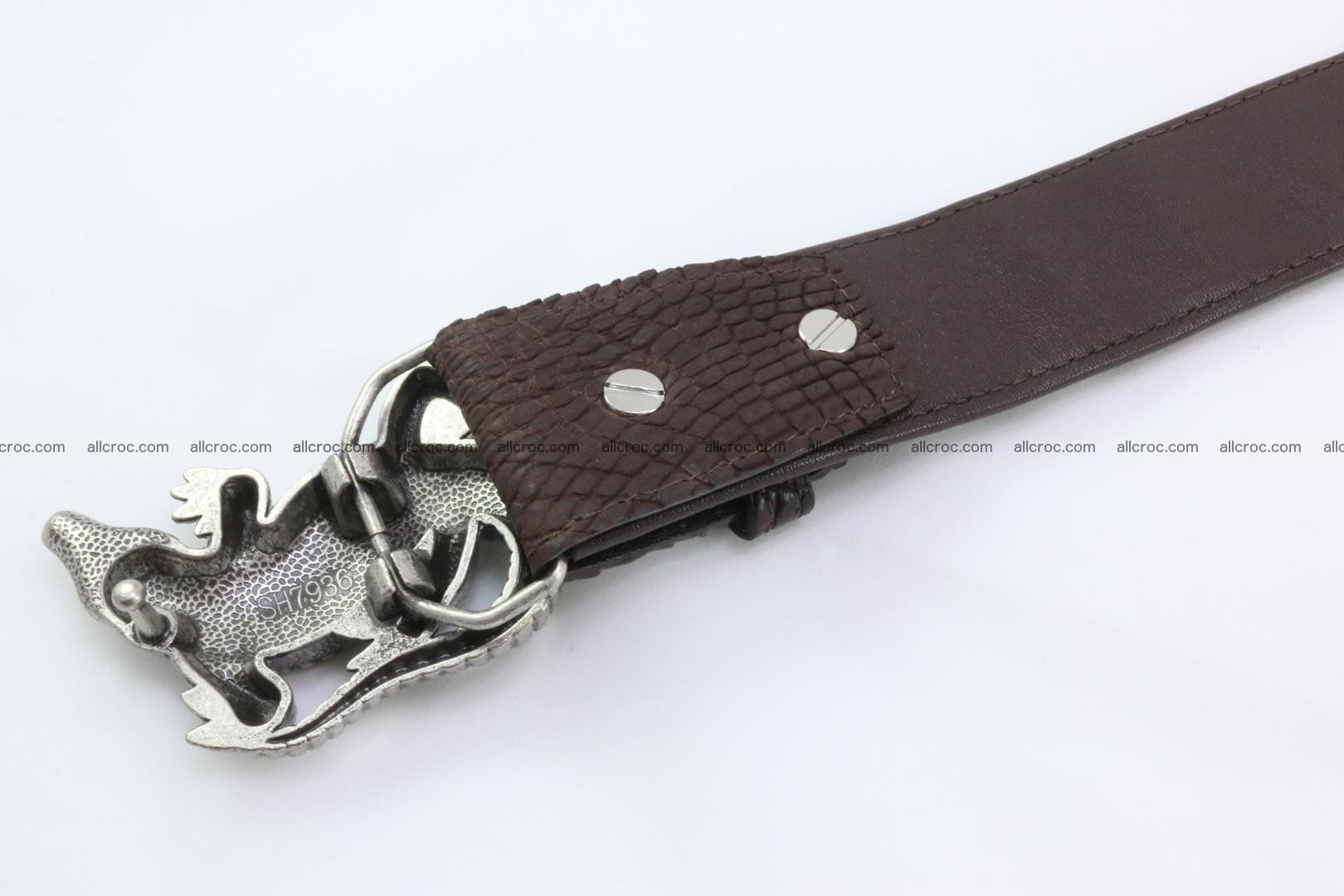 Genuine crocodile leather hornback belt 080 Foto 3