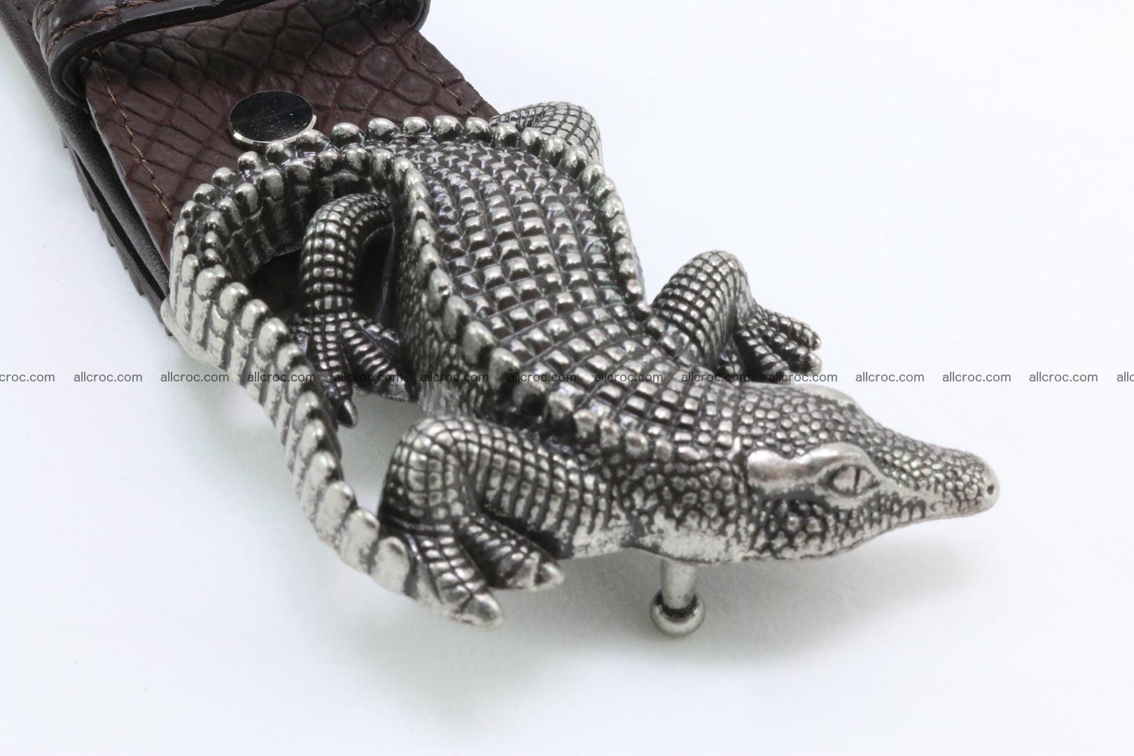 Genuine crocodile leather hornback belt 080 Foto 2