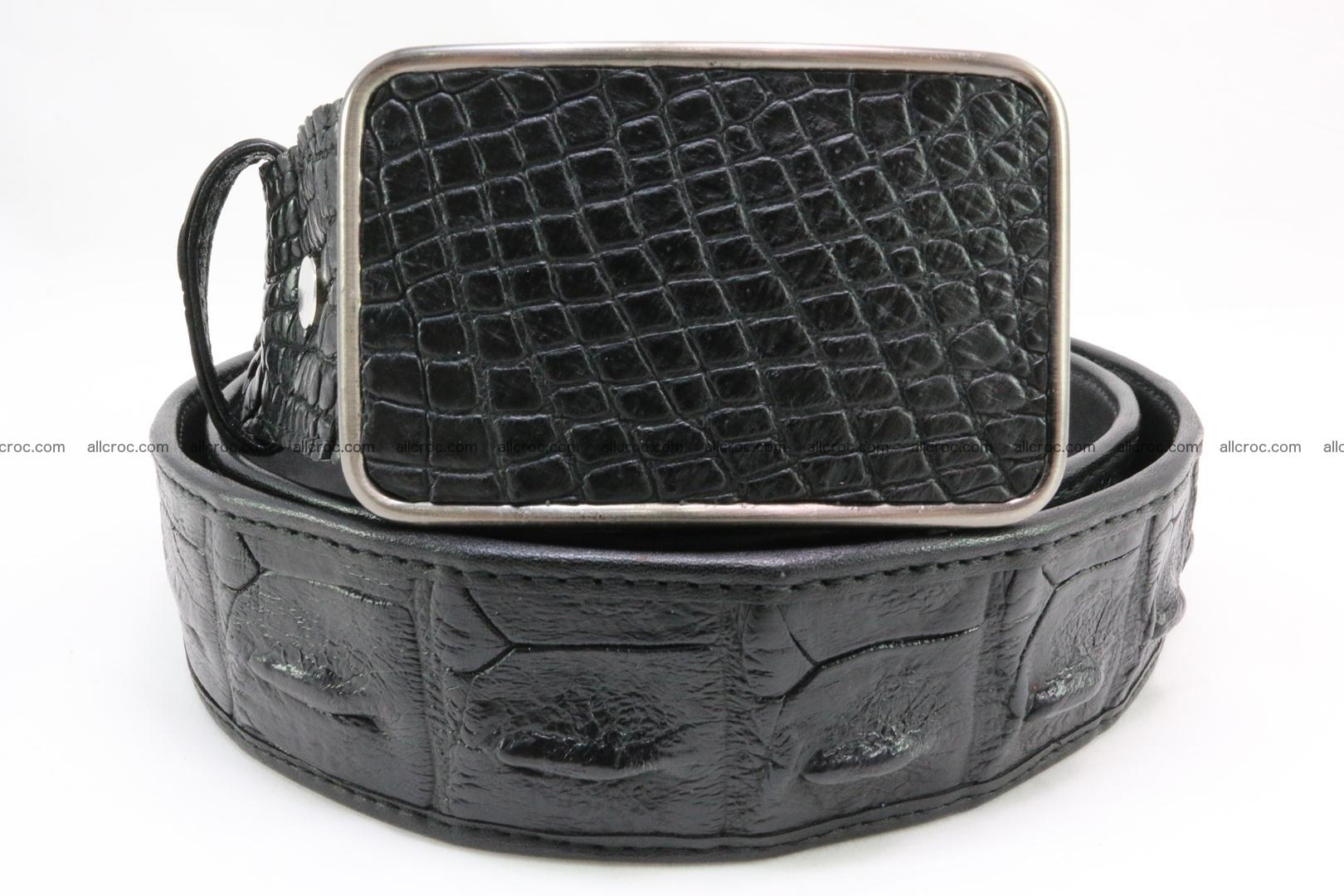 Genuine crocodile leather hornback belt 091 Foto 1