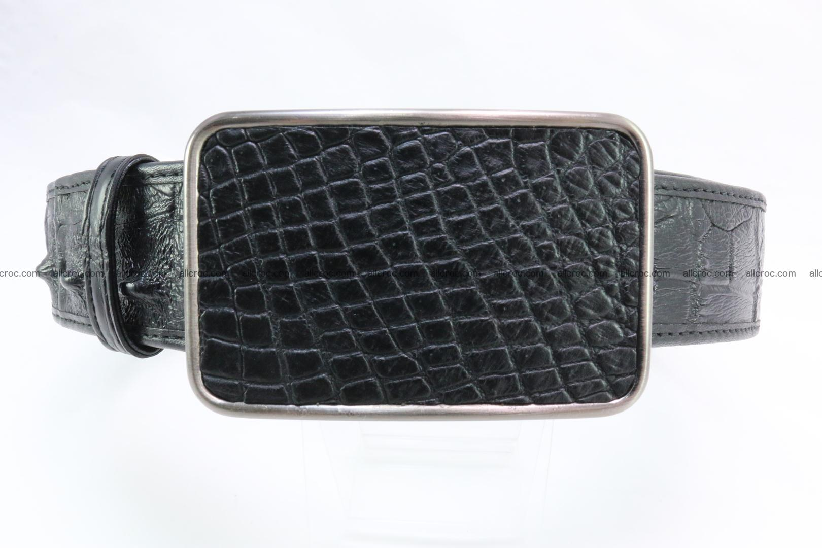 Genuine crocodile leather hornback belt 091 Foto 0