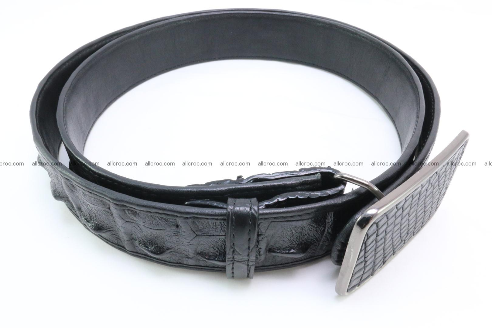 Genuine crocodile leather hornback belt 091 Foto 2
