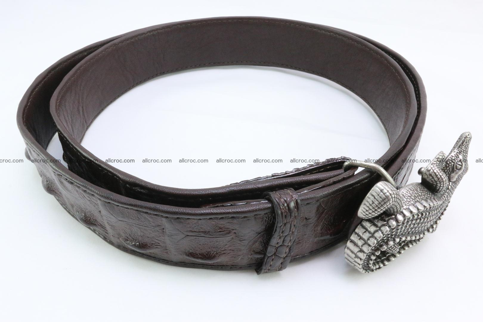 Genuine crocodile leather hornback belt 091 Foto 3