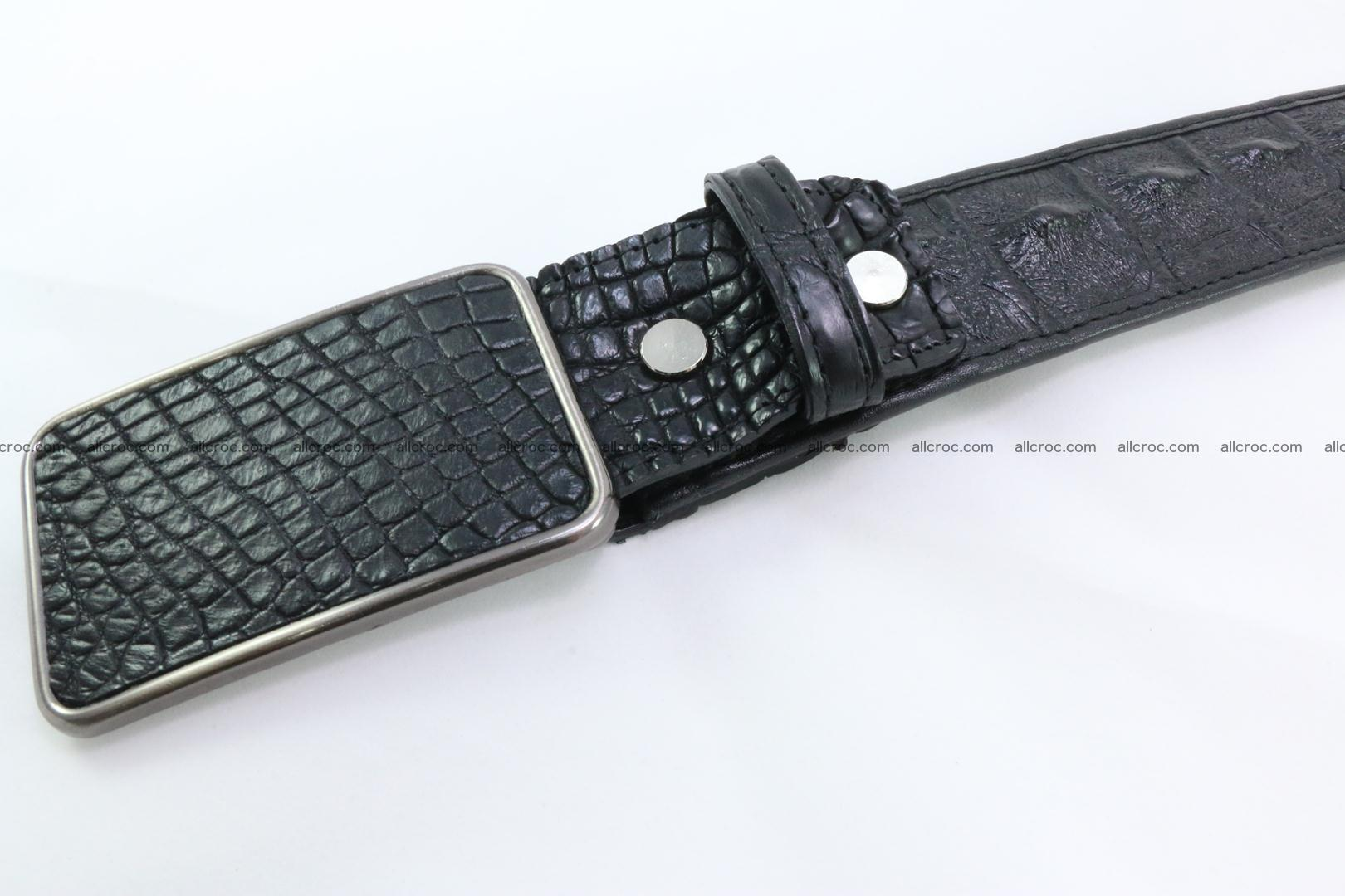 Genuine crocodile leather hornback belt 091 Foto 4