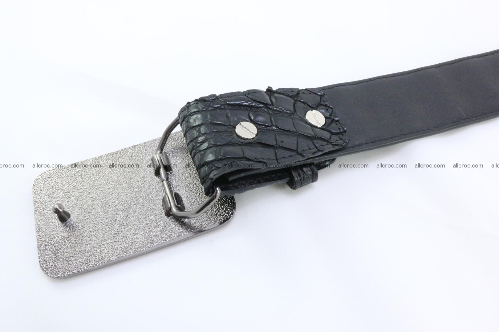 Genuine crocodile leather hornback belt 091 Foto 5