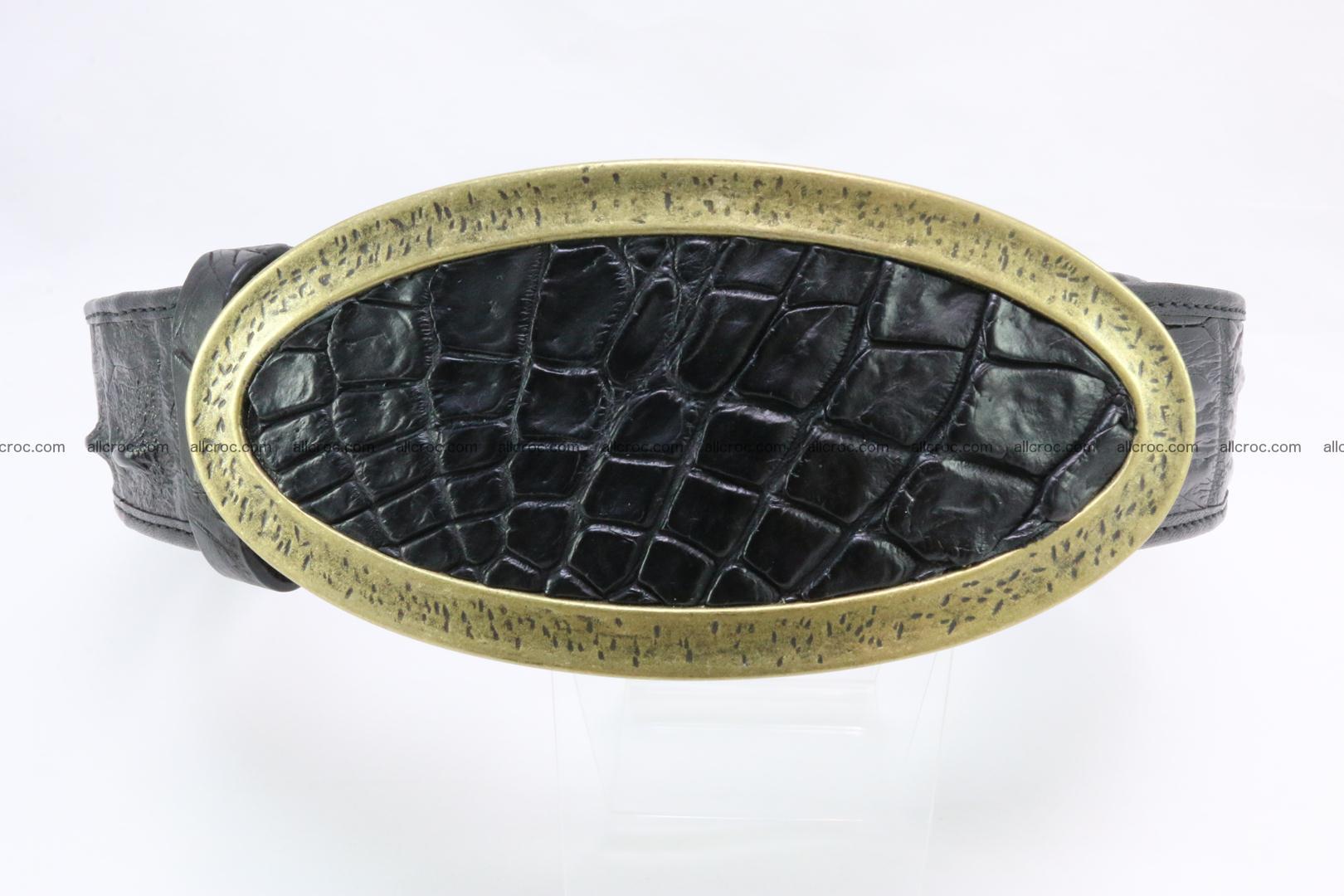 Genuine crocodile leather hornback belt 088 Foto 0