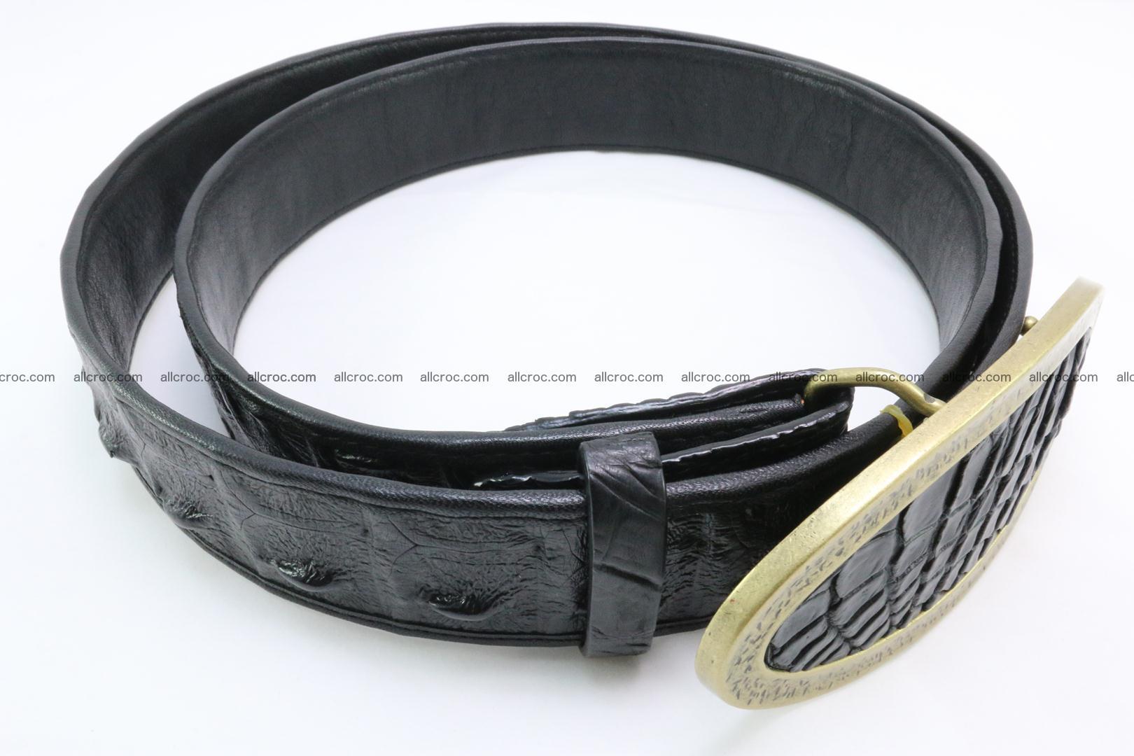 Genuine crocodile leather hornback belt 088 Foto 2