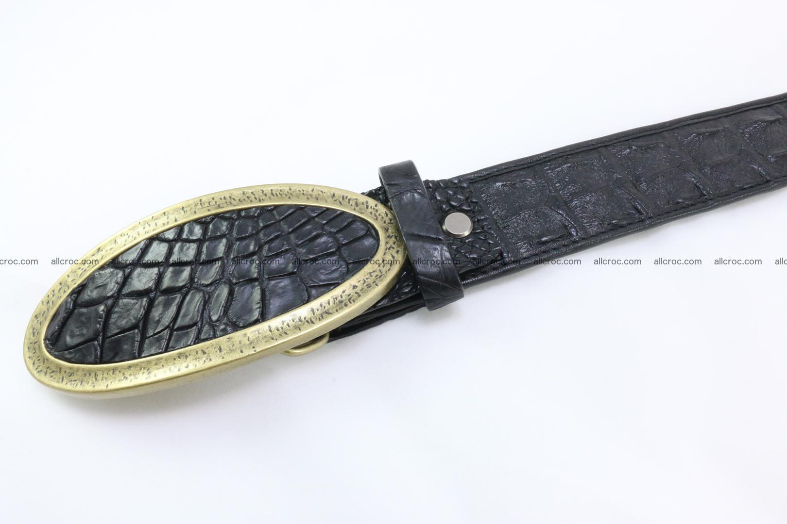 Genuine crocodile leather hornback belt 088 Foto 4