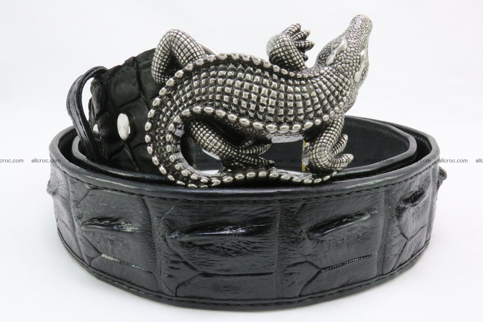 Genuine crocodile leather hornback belt 079 Foto 1