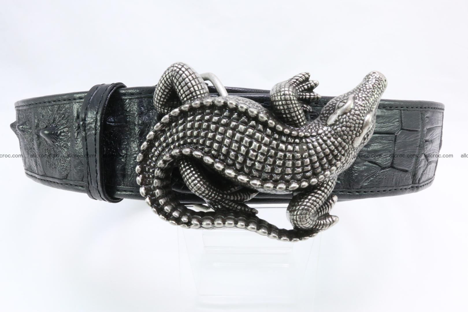 Genuine crocodile leather hornback belt 079 Foto 0