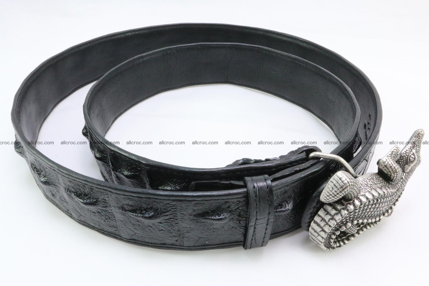 Genuine crocodile leather hornback belt 079 Foto 5