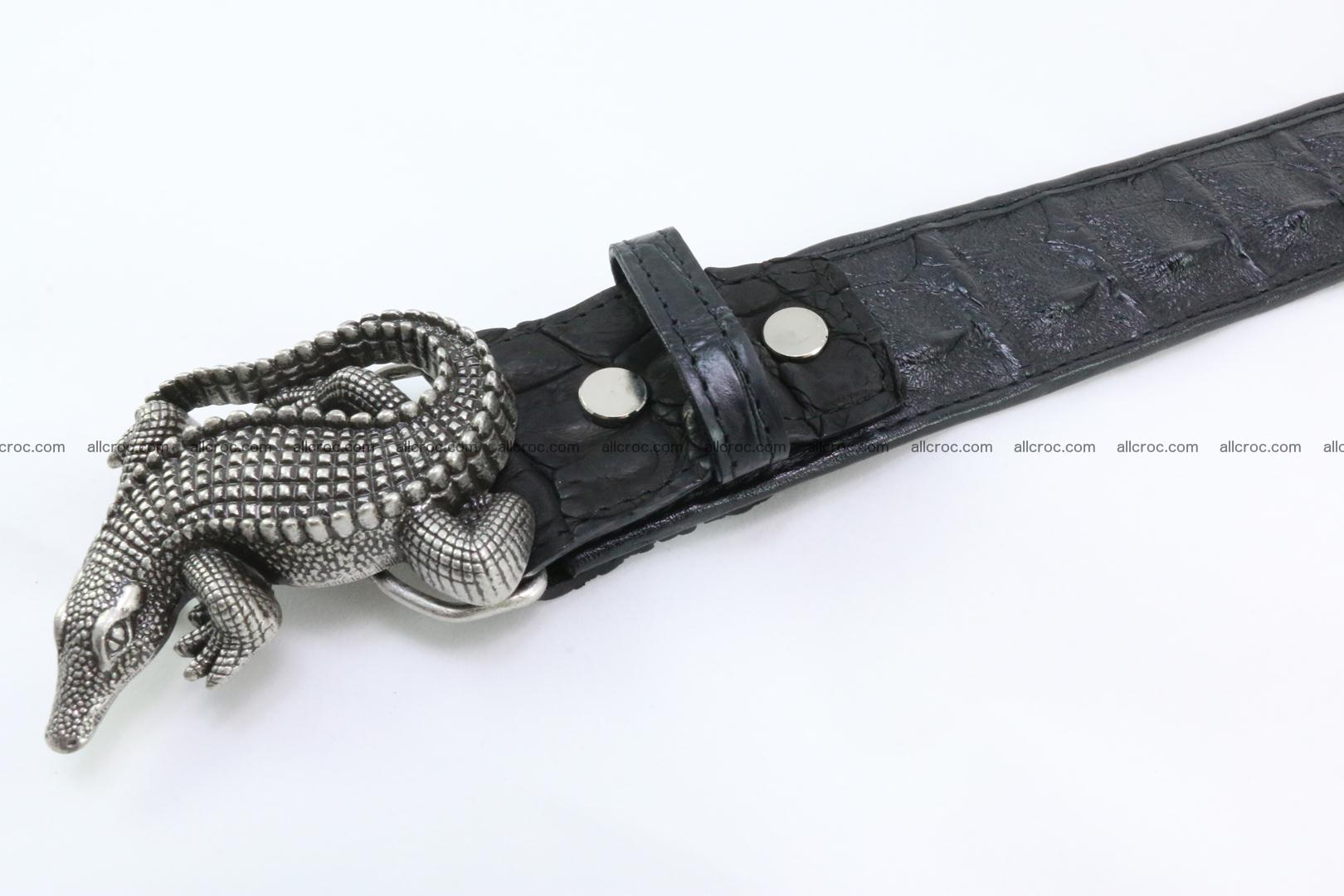 Genuine crocodile leather hornback belt 079 Foto 3