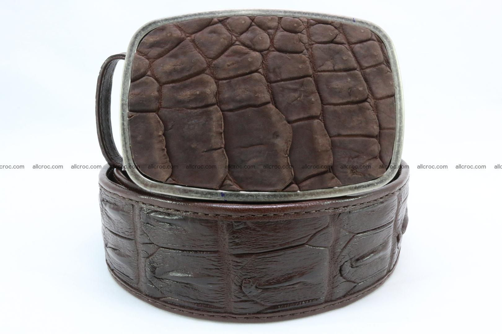 Genuine crocodile leather hornback belt 086 Foto 1