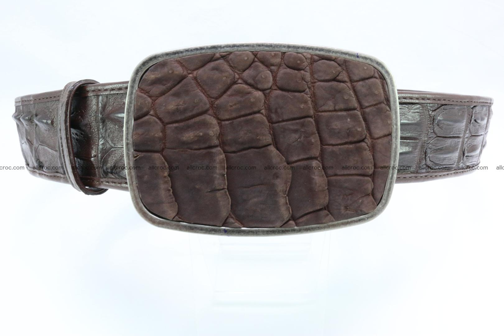 Genuine crocodile leather hornback belt 086 Foto 0