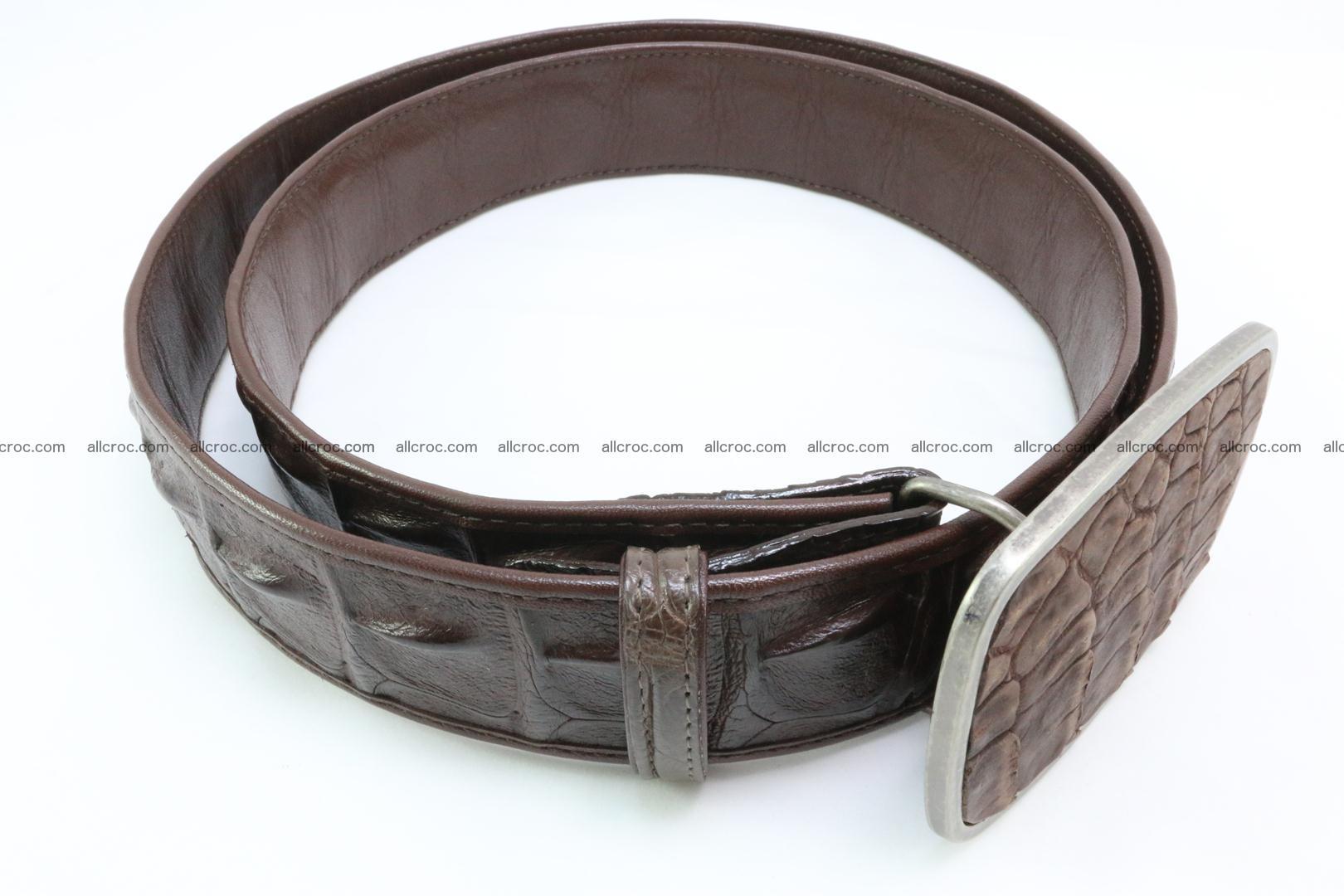 Genuine crocodile leather hornback belt 086 Foto 3